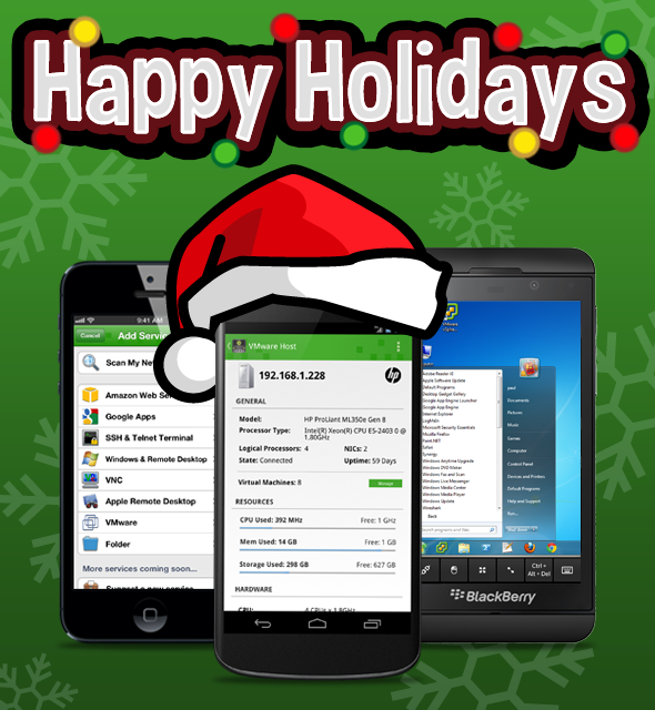Happy Holidays from ITmanager.net providing Remote Network Administration Software As A Service